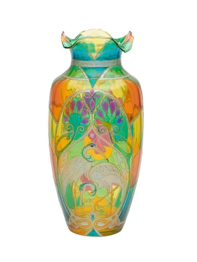 Vaso do vidro manchado fotografia de stock royalty free