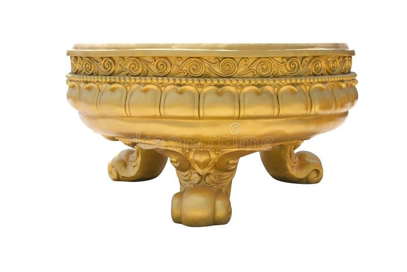 Vaso dorato di incenso fotografia stock libera da diritti