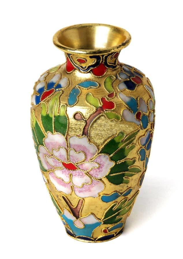 Vaso dourado foto de stock royalty free