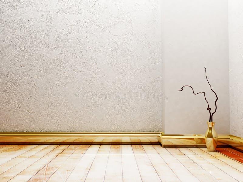 Vaso dourado elegante ilustração do vetor