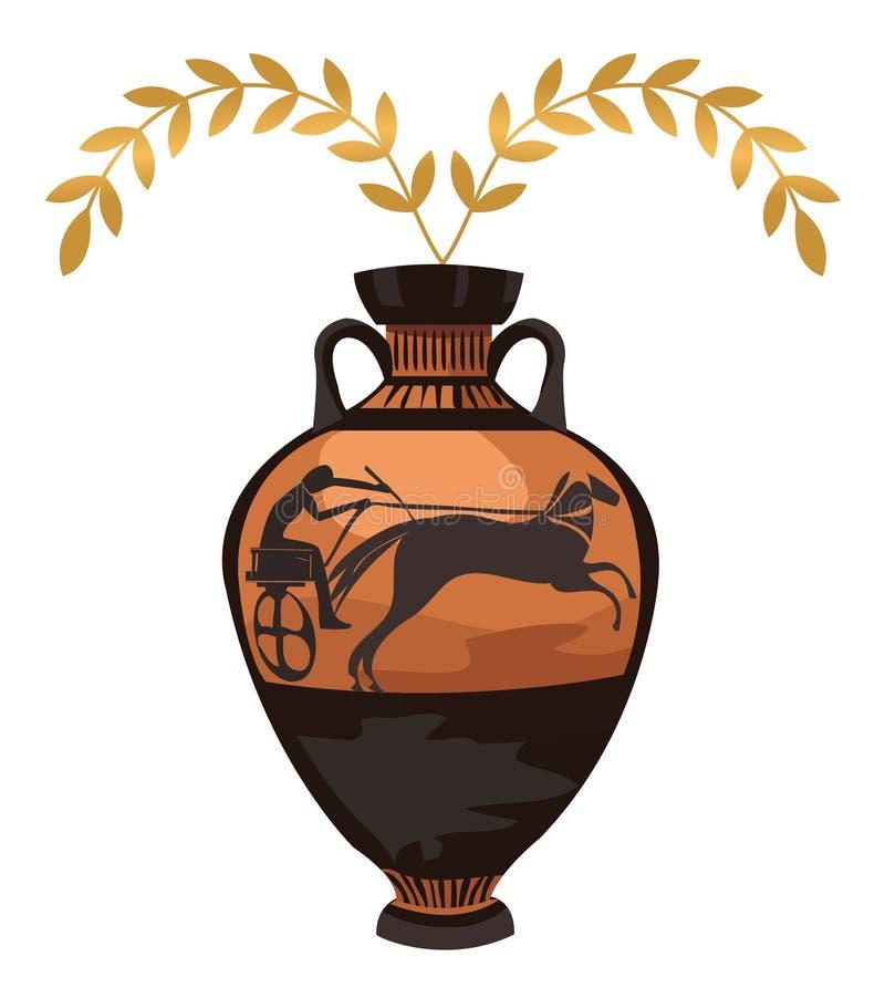 Vaso greco antico illustrazione vettoriale illustrazione for Vaso greco antico
