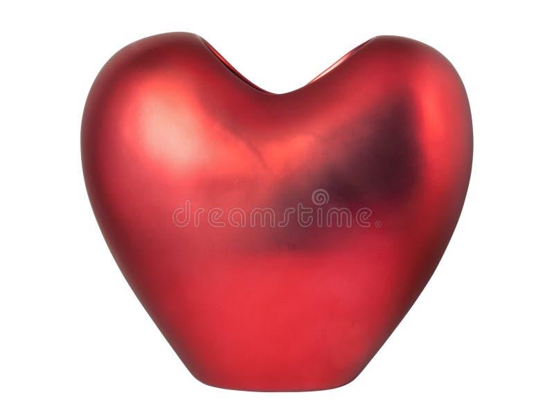 Vaso heart-shaped vermelho foto de stock royalty free