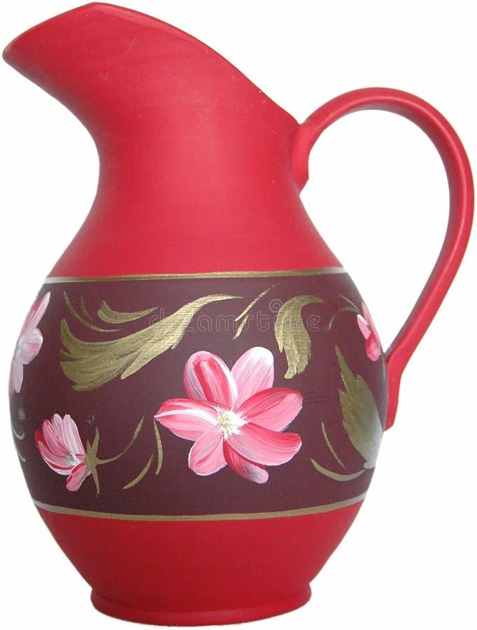 Vaso rosso immagini stock
