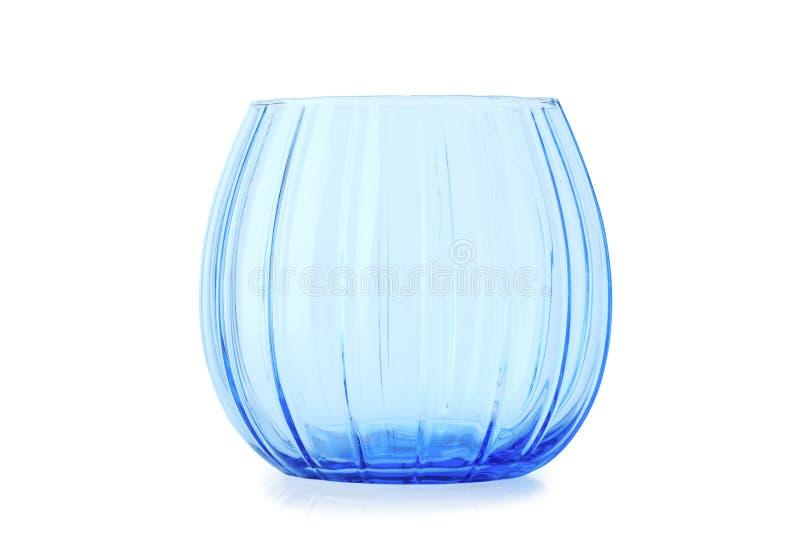 Vaso transparente azul fotografia de stock
