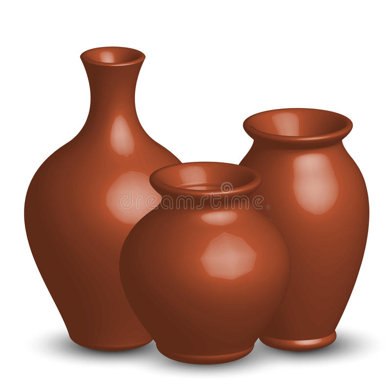 Vasos ilustração royalty free
