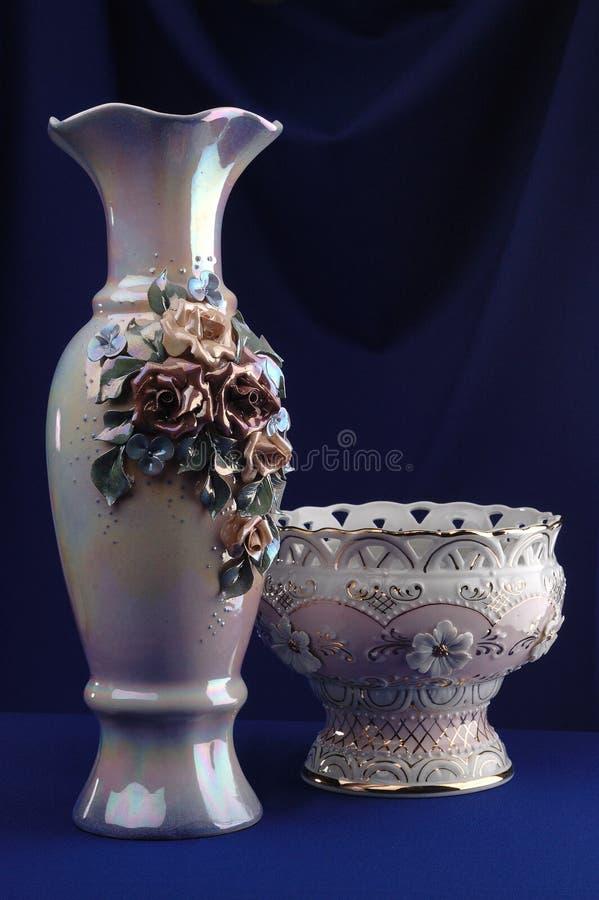 Vasos da porcelana fotografia de stock royalty free