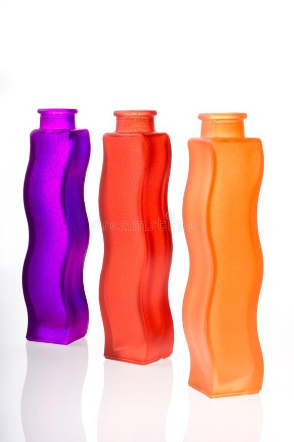 Vasos de flor coloridos imagens de stock