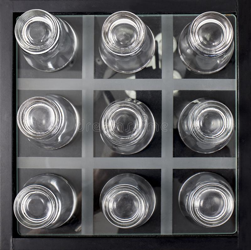 Vasos de medida abstractos fotos de archivo
