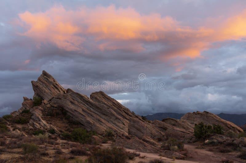 Vasquez Kołysa Naturalnego terenu parka w Kalifornia zdjęcie stock