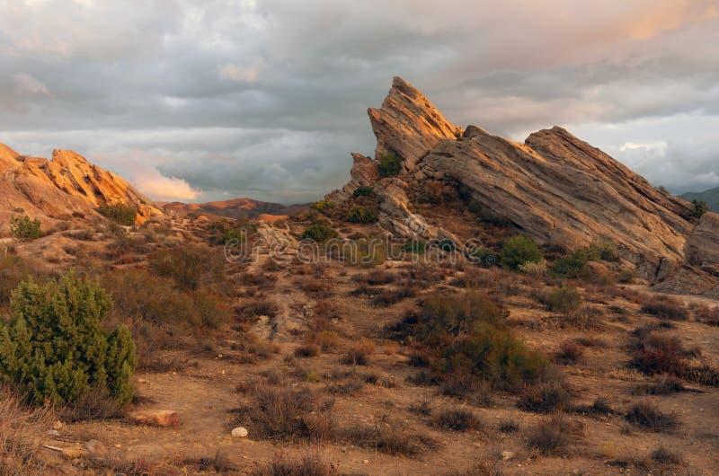 Vasquez oscilla il parco naturale di area nella California immagini stock libere da diritti