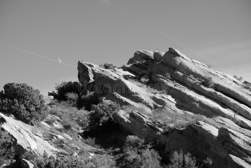 Vasquez Rocks Moon stock photography