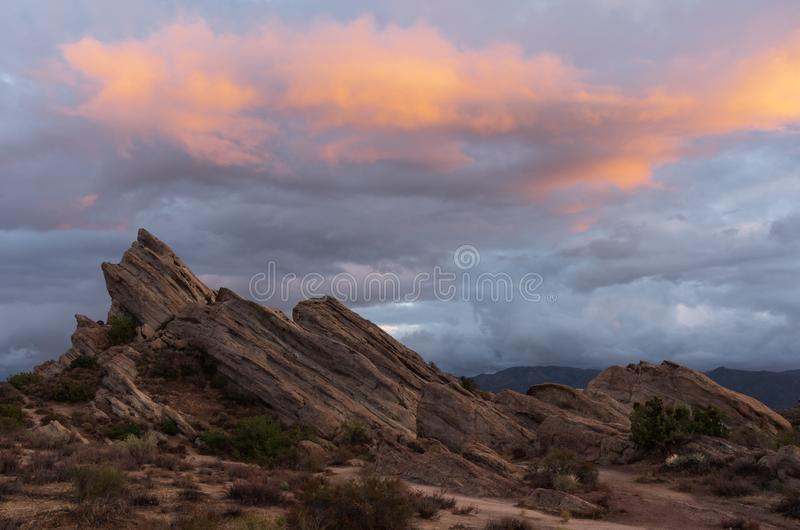 Vasquez Rocks Natural Area Park in California. Image of Vasquez Rocks Natural Area Park. Located in the Sierra Pelona Mountains in Southern California. This stock photo