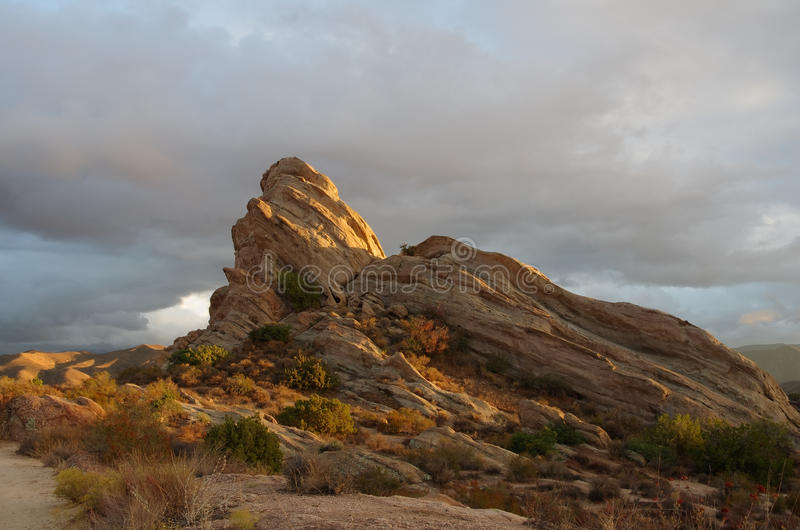 Vasquez Rocks Natural Area Park. Located in the Sierra Pelona Mountains in Southern California United States. This geological feature has been used in many stock photo