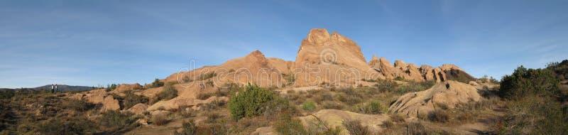Vasquez Rocks Panorama royalty free stock image