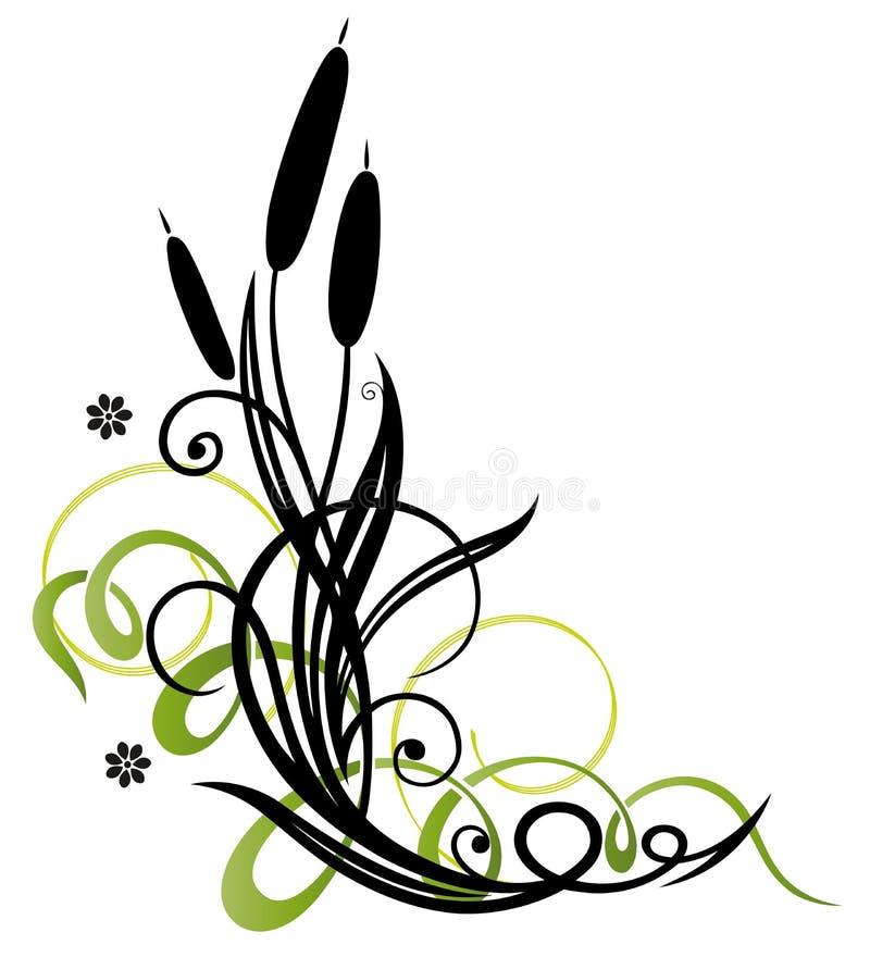 Vass blom- beståndsdel royaltyfri illustrationer