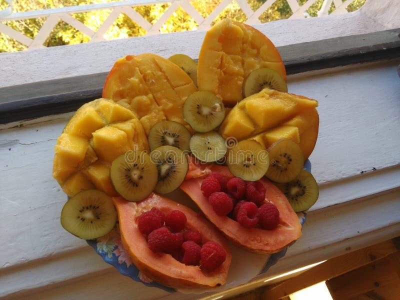 Vassoio della frutta immagine stock