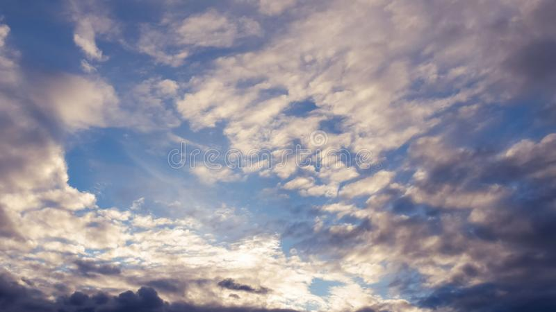 The vast blue sky and clouds sky royalty free stock photos