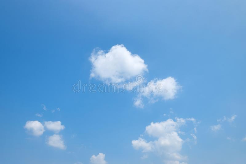 The vast clear blue sky and beautiful clouds on good weather in the morning. Background nature landscape stock images
