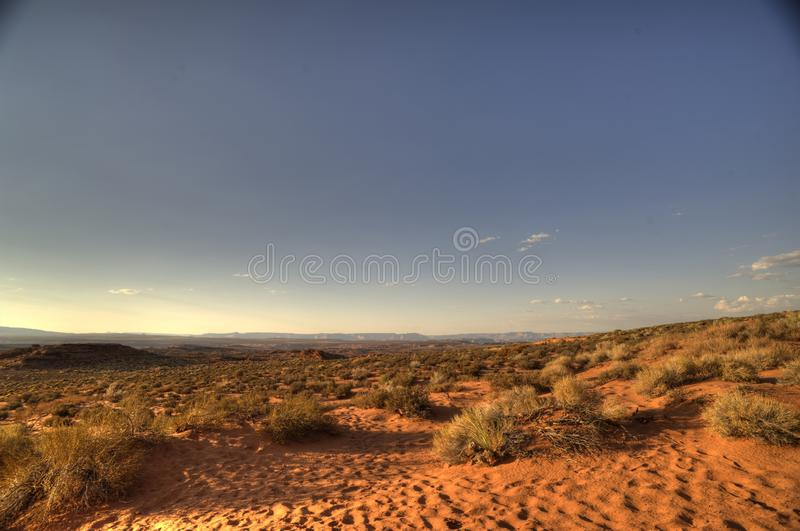 Vast Desert at American South West stock photo