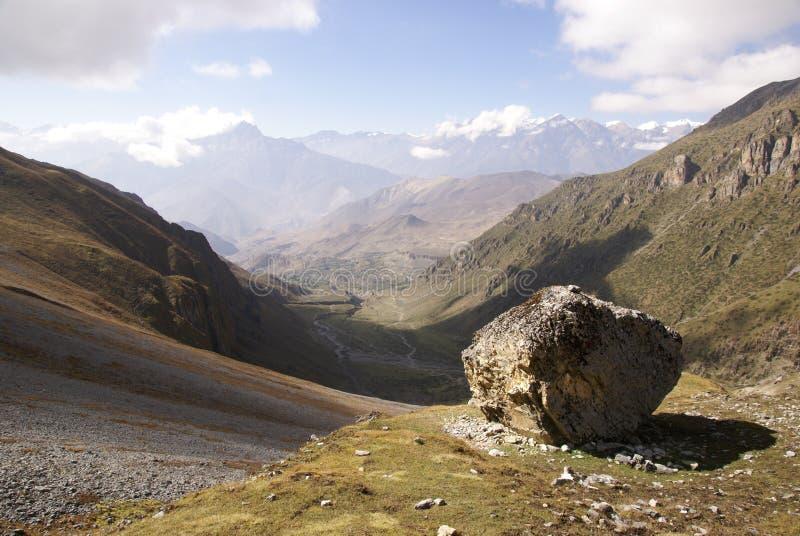 Vast landscape with large rock royalty free stock image