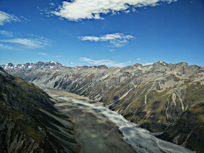 Vast mountain range. stock images