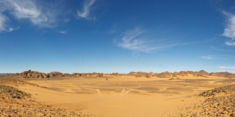 Vast Valley in the Akakus Mountains, Sahara, Libya royalty free stock photo
