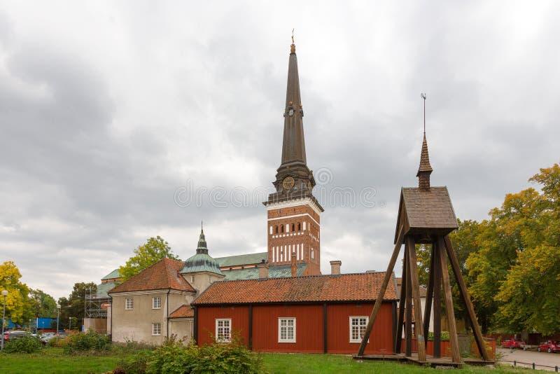 Vasteras大教堂,瑞典看法  图库摄影