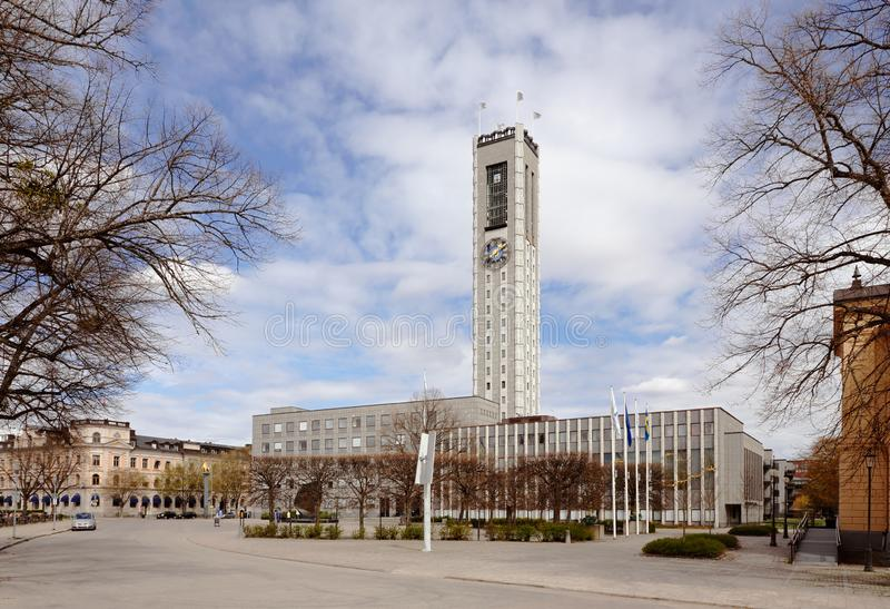 Vasteras市政厅 免版税库存图片