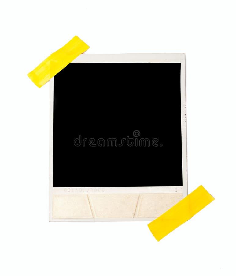 Vastgebonden de fotokader van de polaroidstijl stock foto