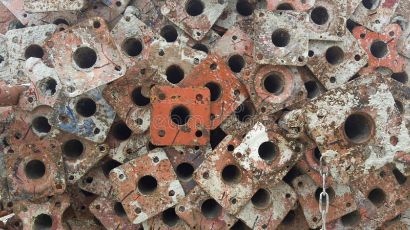 Vastgebonden staalbouw royalty-vrije stock afbeelding