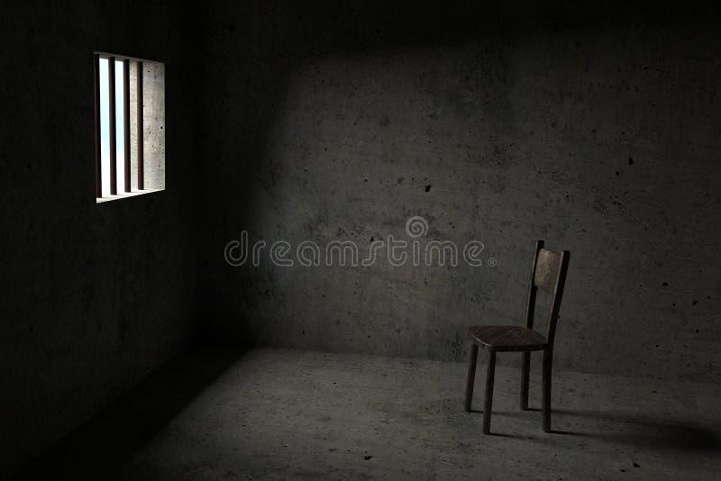 Vastgehouden - 3D Gevangenis royalty-vrije illustratie