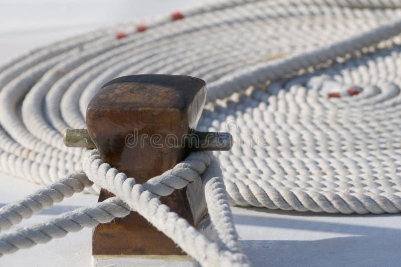 Vastgelegde boot stock foto