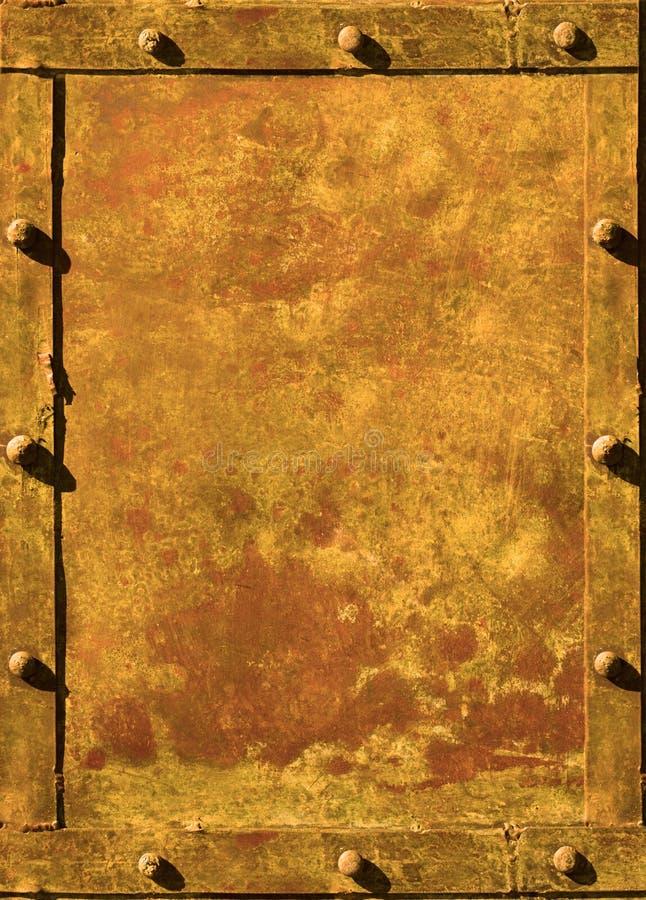 Vastgenagelde grunge achtergrond stock illustratie