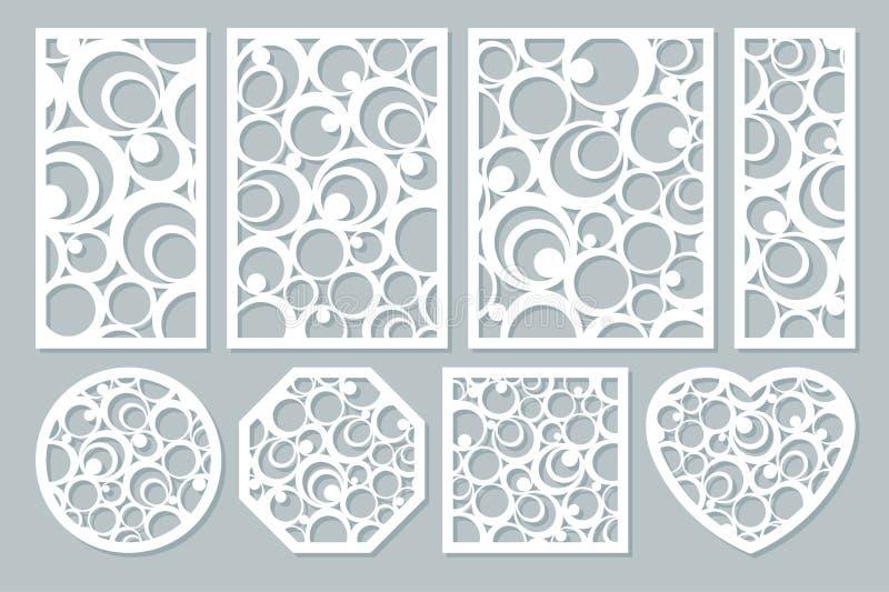 Vastgesteld elementen decoratief ontwerp geometrisch ornamentpatroon stock fotografie