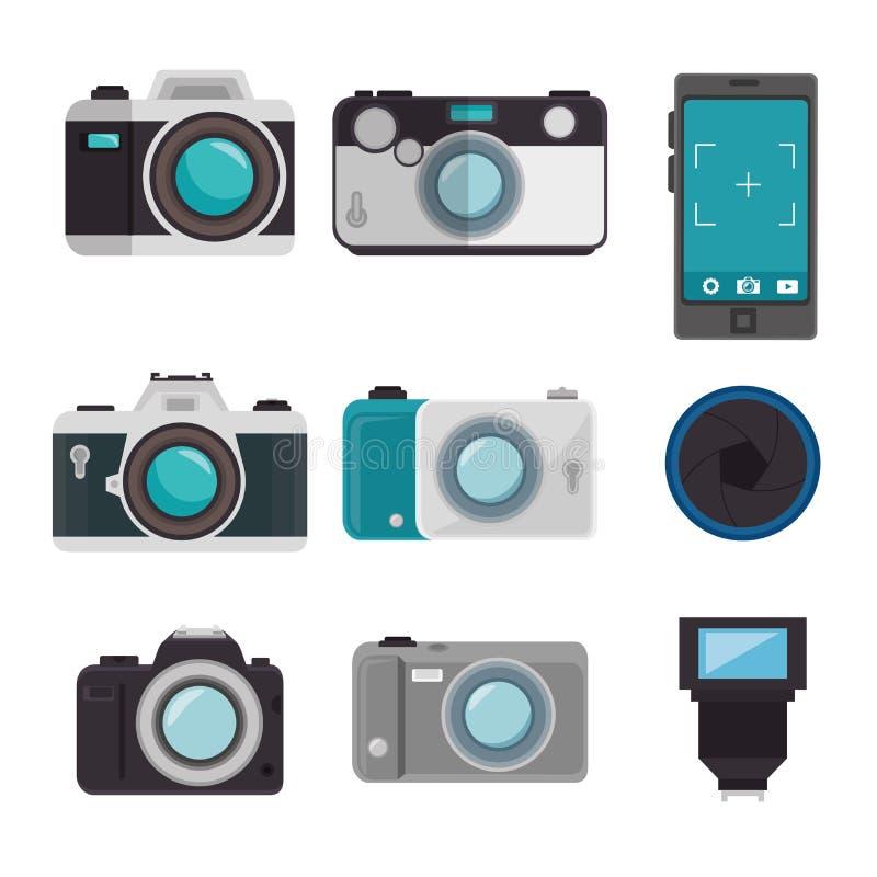vastgesteld fotografisch materiaalontwerp vector illustratie