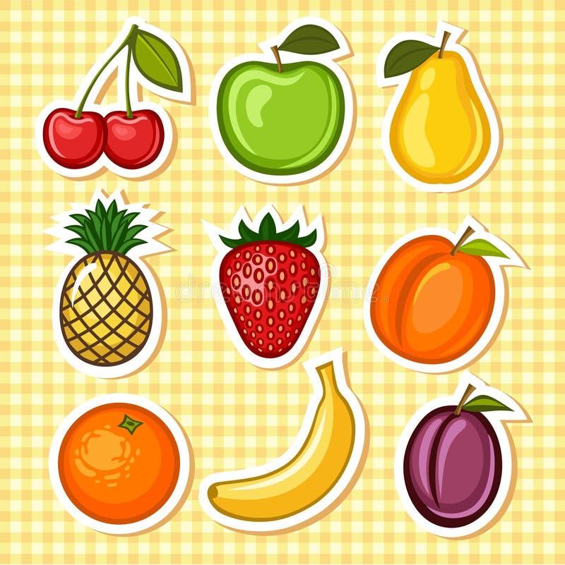 vastgesteld fruit royalty-vrije illustratie