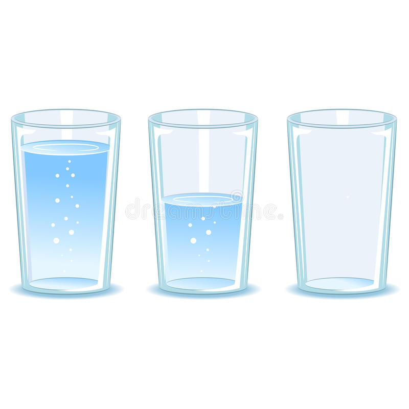 Vastgesteld Glas water vector illustratie