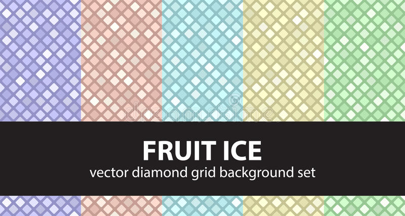 Vastgesteld het Fruitijs van het diamantpatroon royalty-vrije illustratie