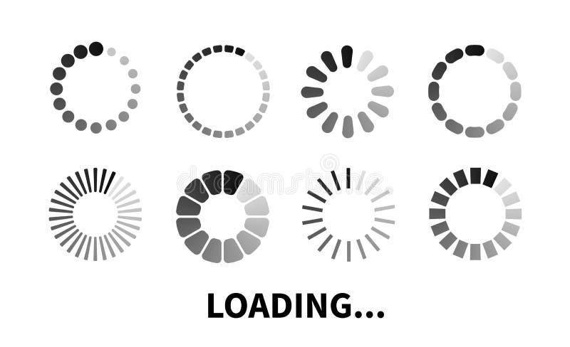 Vastgesteld Ladingspictogram stock illustratie