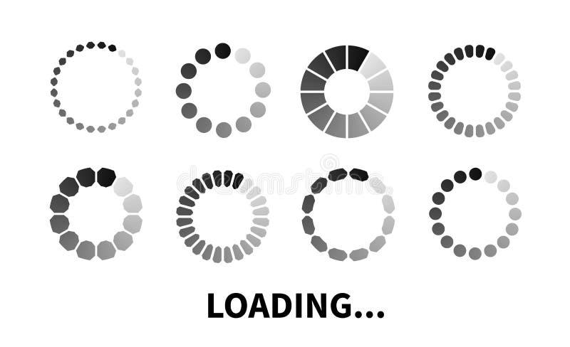 Vastgesteld Ladingspictogram vector illustratie