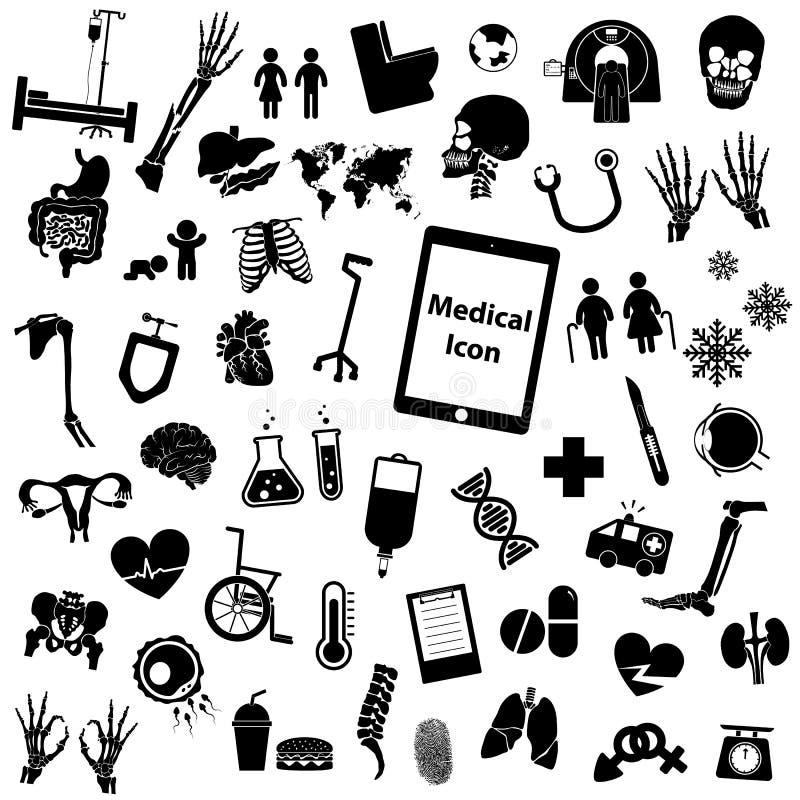Vastgesteld medisch pictogram stock illustratie