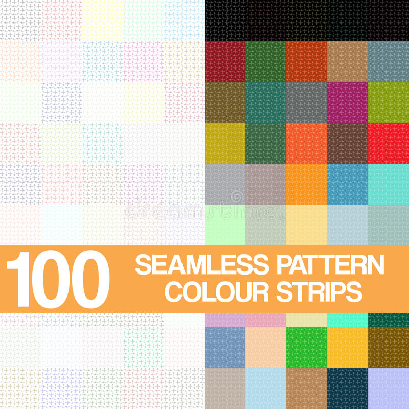 Vastgesteld naadloos patroon, kleurenstroken op witte achtergrond stock illustratie