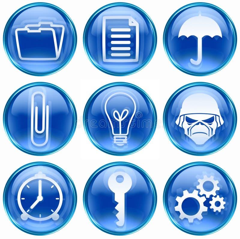 Vastgesteld pictogram blauwe #06. vector illustratie