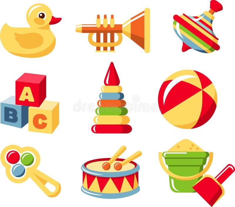 Vastgesteld speelgoed stock illustratie