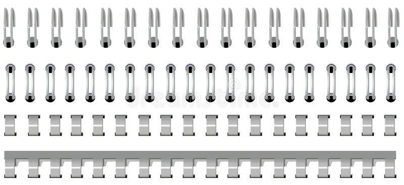 Vastgesteld spiraalvormig bindmiddel vector illustratie