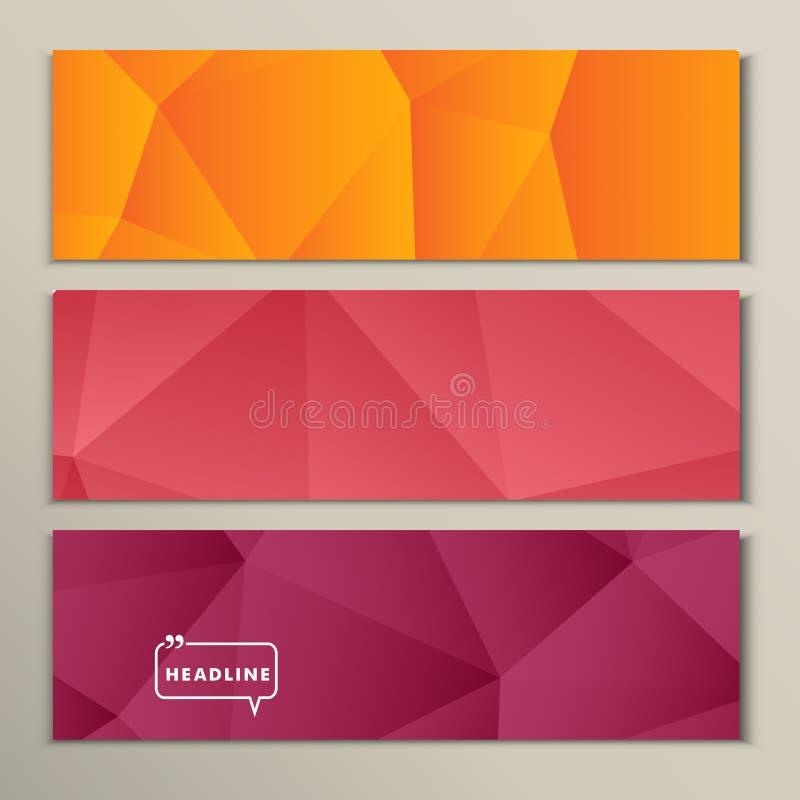 Vastgestelde abstracte heldere beeld rozerode sinaasappel stock illustratie