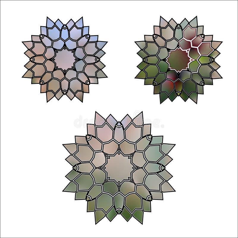 Vastgestelde Abstracte illustratie van bloemkristal vector illustratie