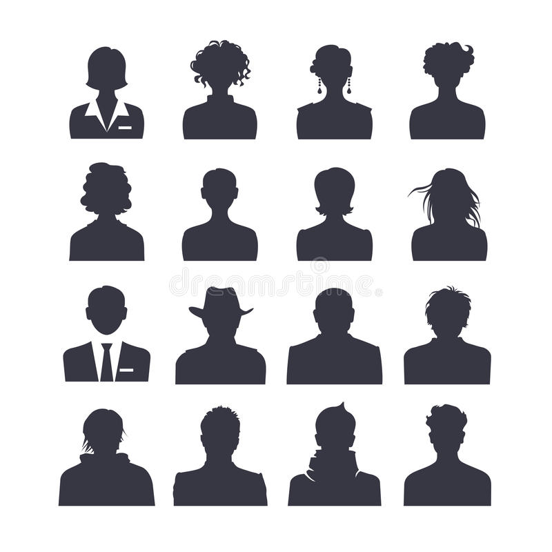 Vastgestelde avatars van het Webpictogram royalty-vrije illustratie