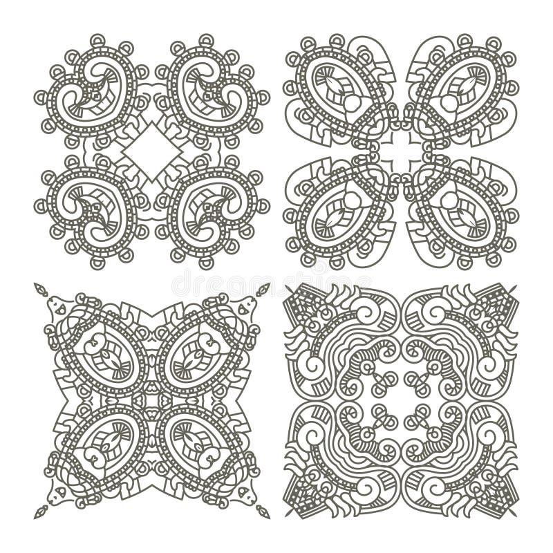 Vastgestelde Azteekse ornamenten royalty-vrije illustratie
