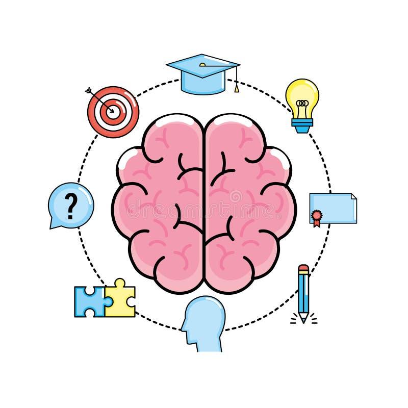 Vastgestelde creatieve proces en uitwisselings van ideeënuitvinding stock illustratie